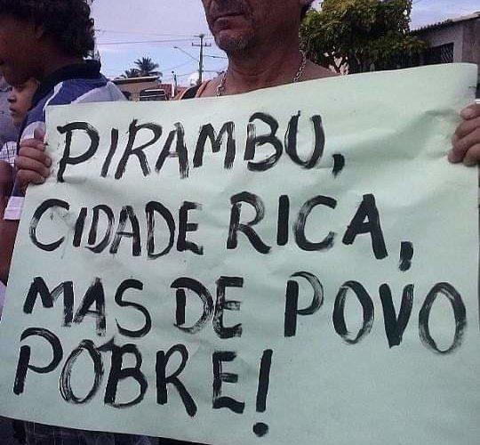 ROYALTIES: Pirambu recebeu em 2020 R$ 2.196.746, 21, informou Luizinho Pereira