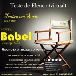 A peça Hostel Babel está realizando teste de elenco